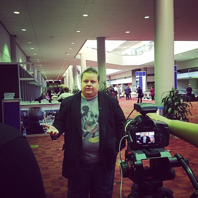 Fun doing some interviews with the @collinsonmedia team at #rejuvenateMP
