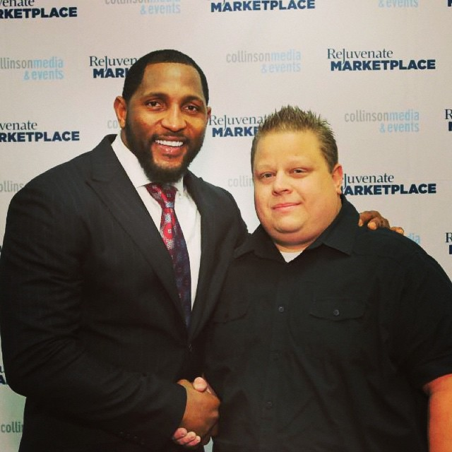 Awesome to meet Ray Lewis at #rejuvenateMP one of the best communicators I've ever heard!