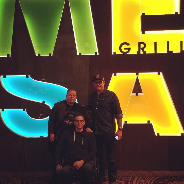 Awesome lunch at Mesa Grill with @jaredthequad @noahfineart Bobby Flay knows what's up!
