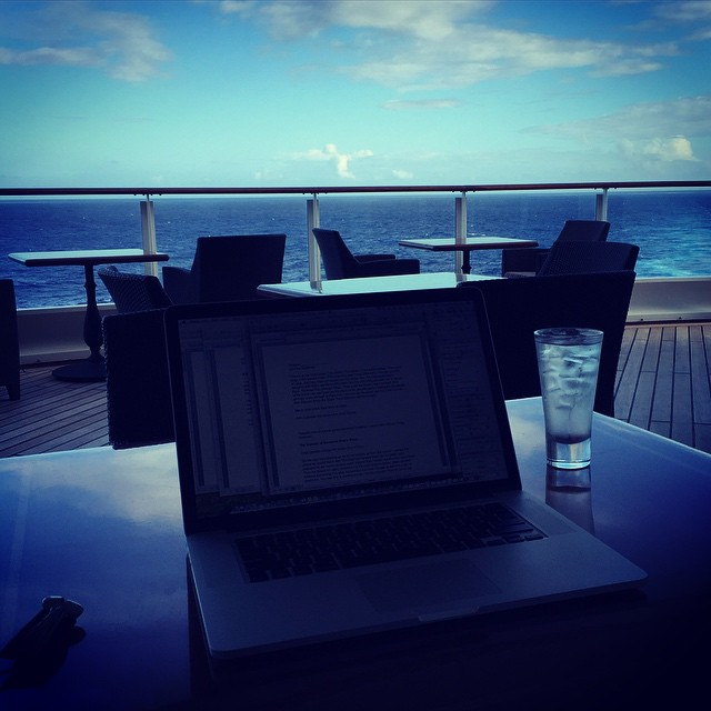Writing from my office today but missing writing on Deck 12 of the Disney Fantasy @disneycruiseline